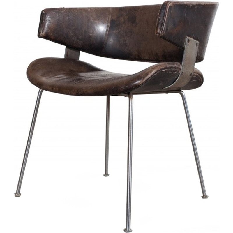 Patinated armchair by Geoffrey Harcourt for Artifort - 1960s