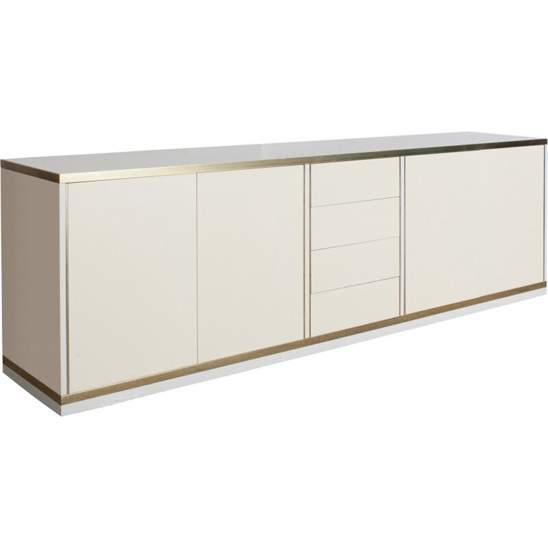 Lacquer And Brass Sideboard by Mario Sabot - 1980s