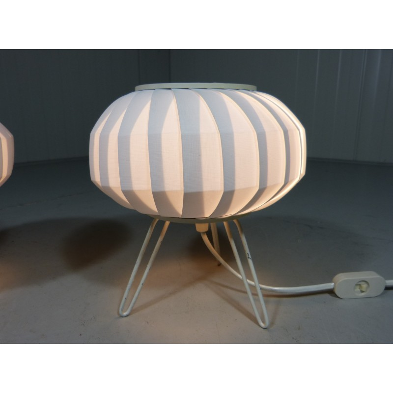 Pair of ufo table lamps 1950s design market previous mozeypictures Choice Image