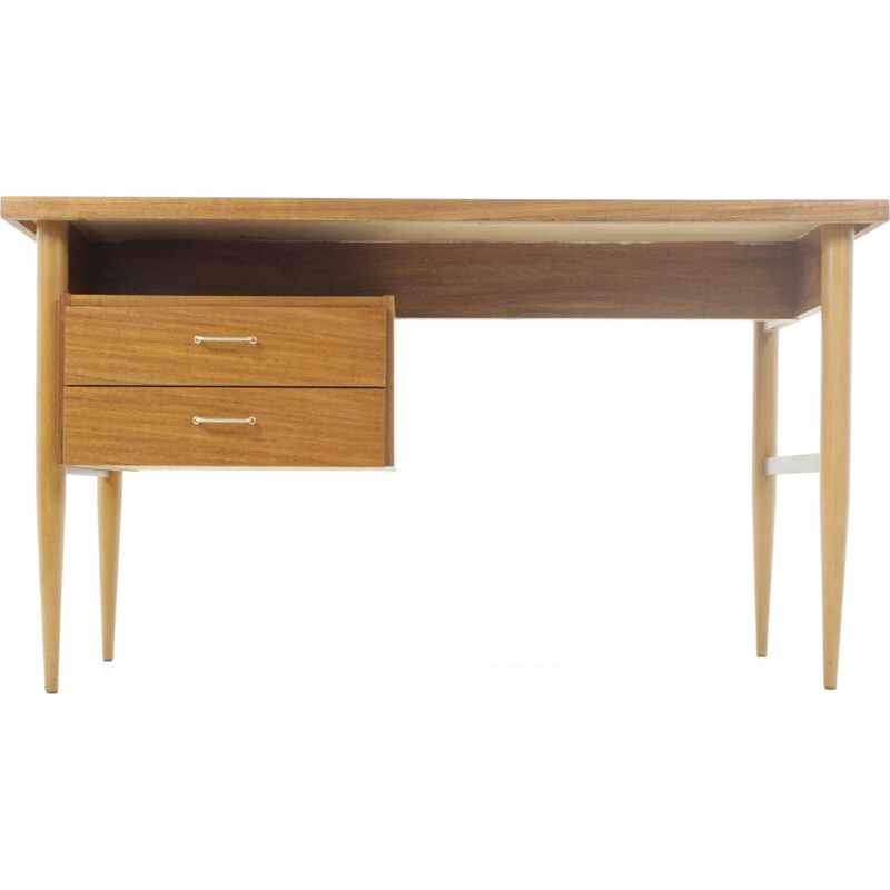 Vintage Scandinavian desk in mahogany - 1960s