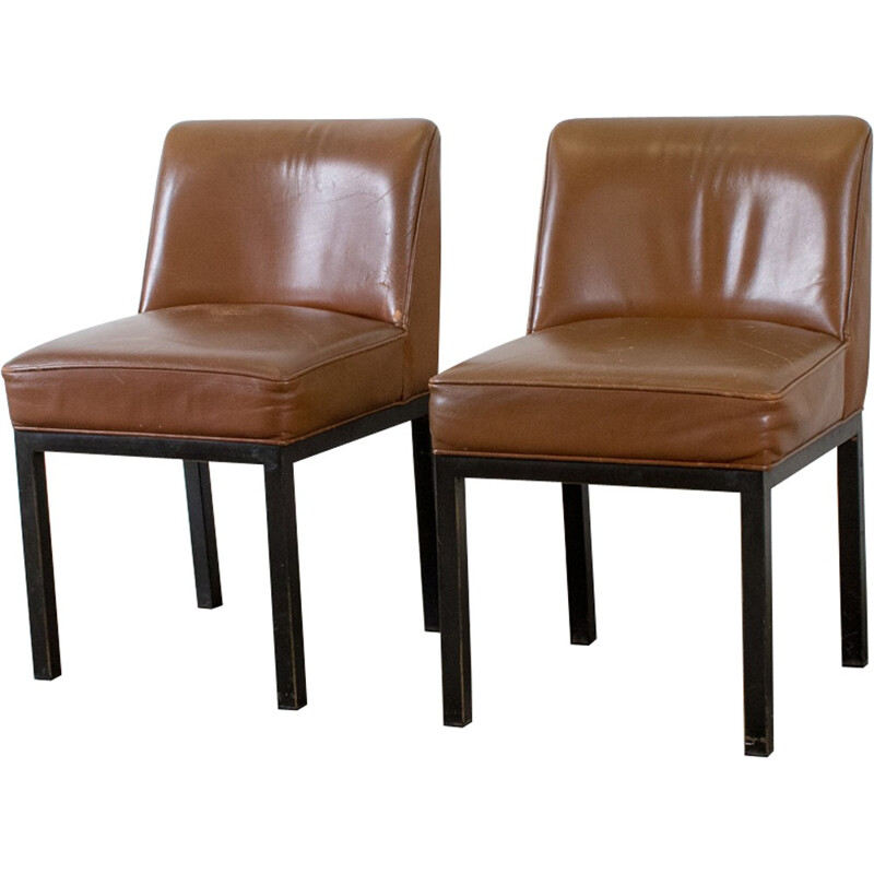 Pair of Louise armchairs by Jules Wabbes - 1960s