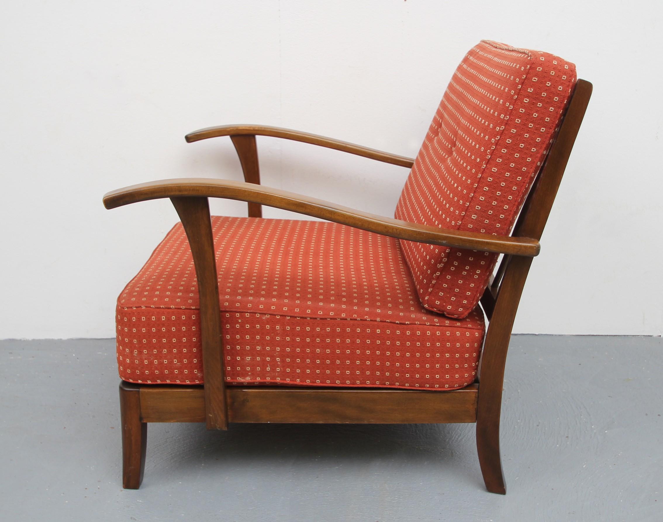 Vintage armchair in pale red 1930s Design Market