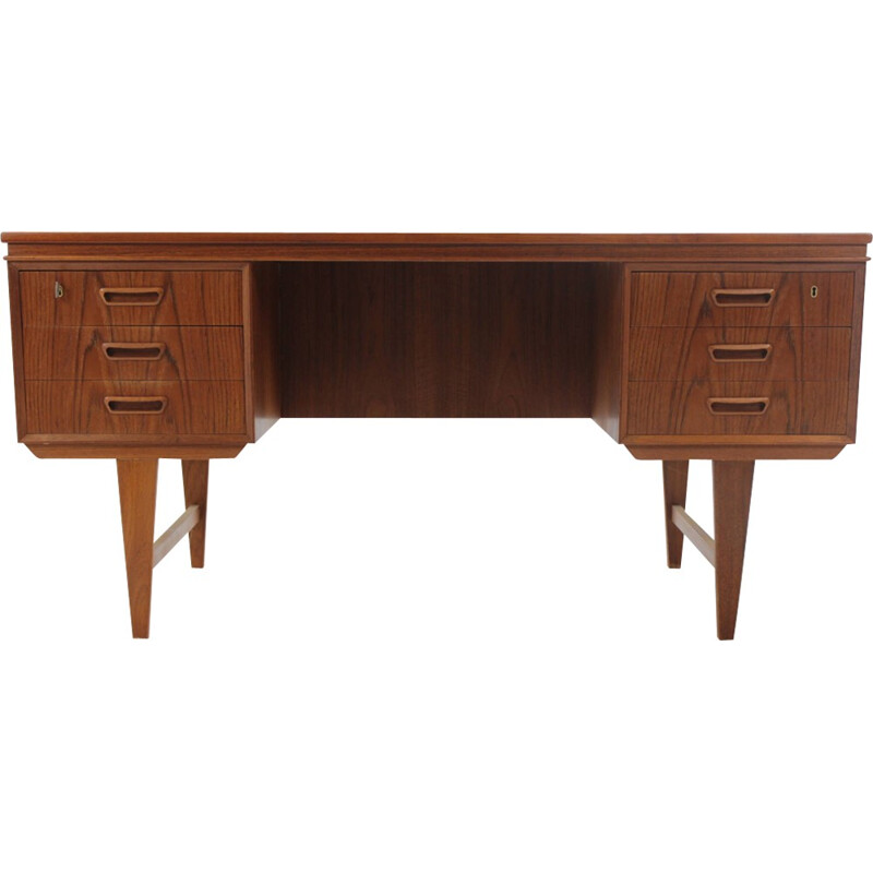 Danish vintage teak writing desk - 1960s