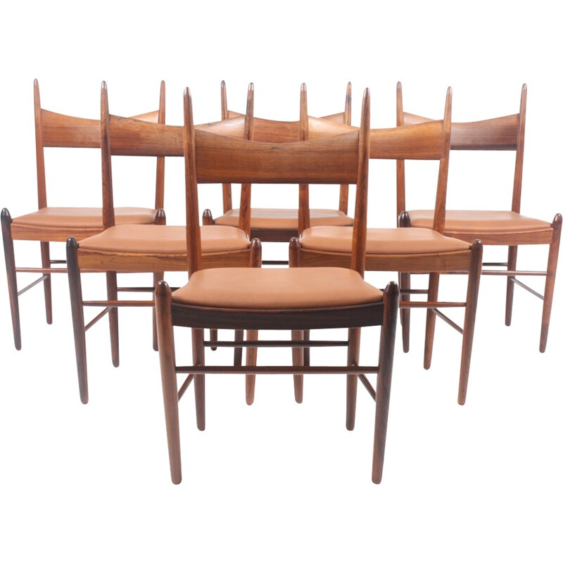 Rosewood Dining Chairs by Vestervig Eriksen - 1960s