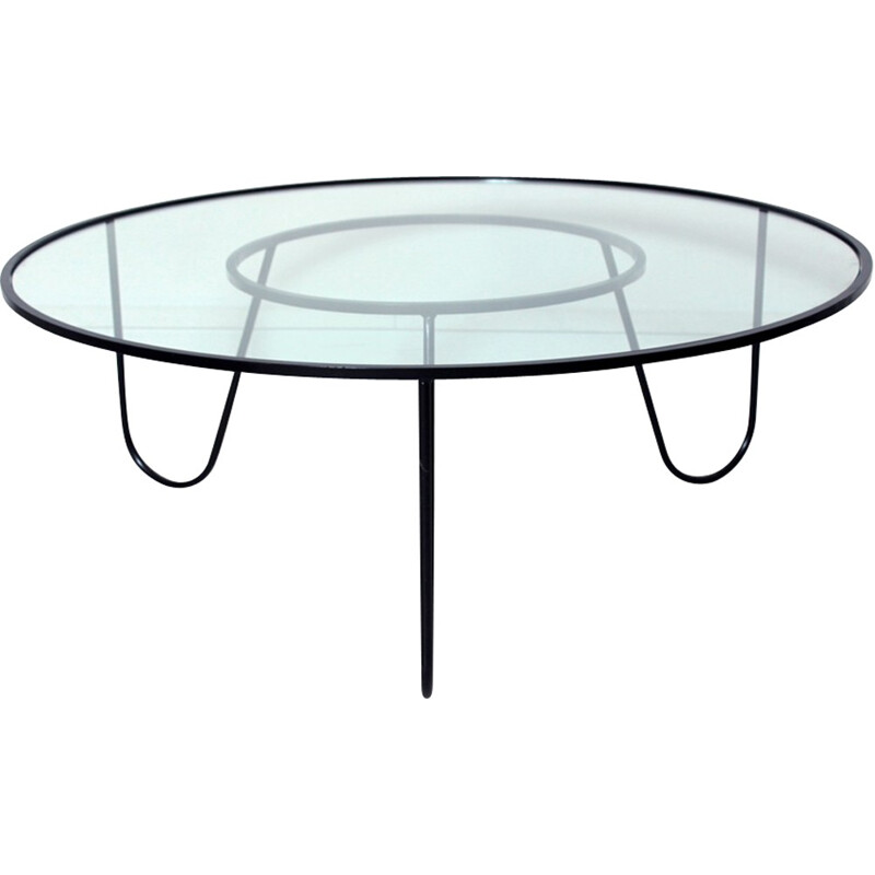 "Vintage coffee table ""Bellevue"" by Mathieu Mategot - 1950s"