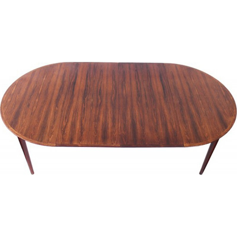 Mid-century rosewood extending dining table - 1950s