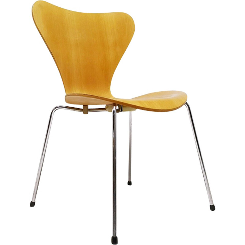 """Set of 4 3107 """"Butterfly"""" chairs by Arne Jacobsen for Fritz Hansen - 1990s"""
