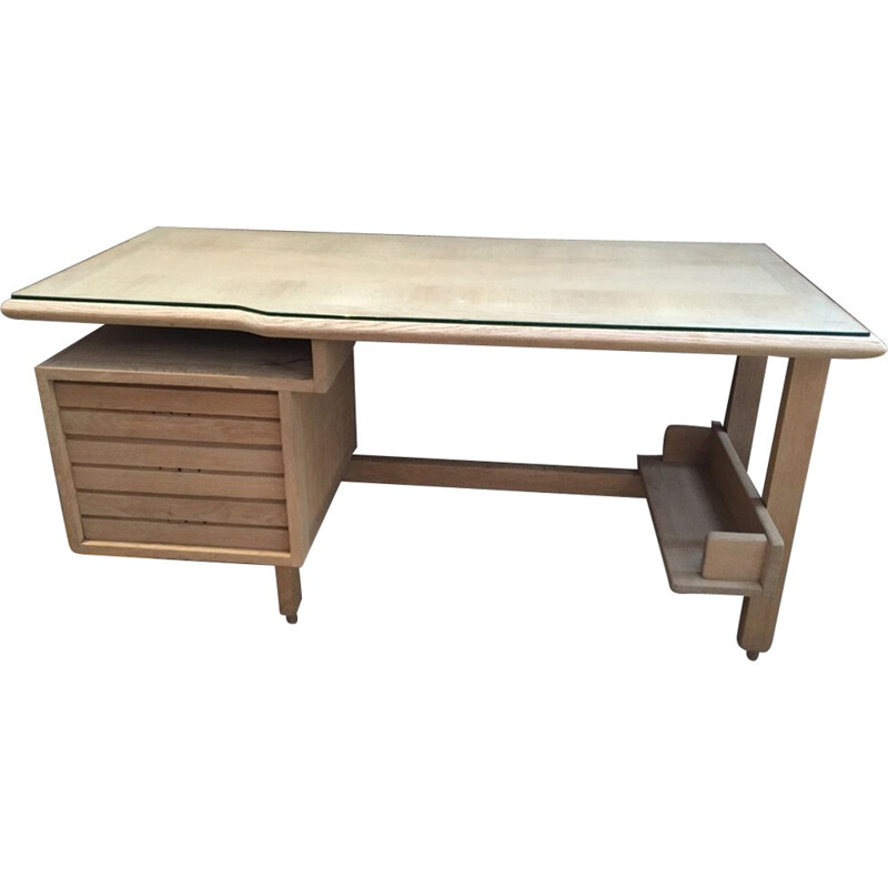 Vintage office desk by Guillerme and Chambron - 1960s
