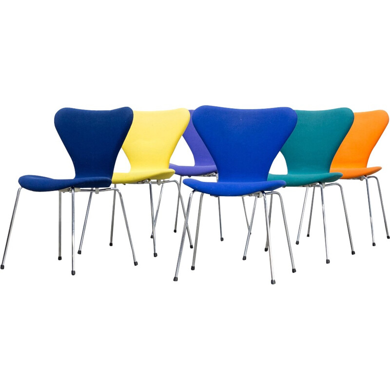 Set of 4 butterfly chairs by Arne Jacobsen for Fritz Hansen - 1990s