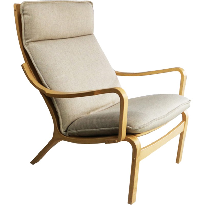 Danish Bentwood Lounge Armchair By Skippers Mobler   1970s