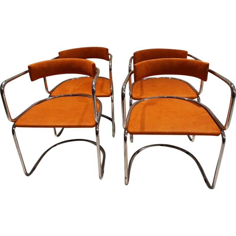 Set of 4 vintage chairs for Roche Bobois - 1970s - Design Market