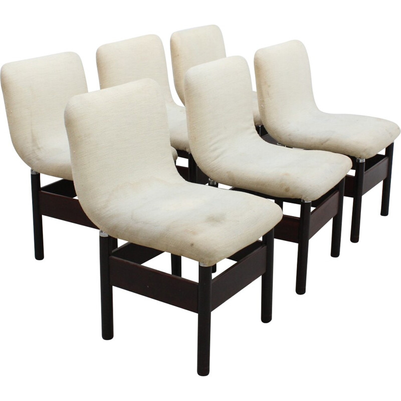 Set of 6 vintage chelsea Chairs by Vittorio Introini for Saporiti - 1960s