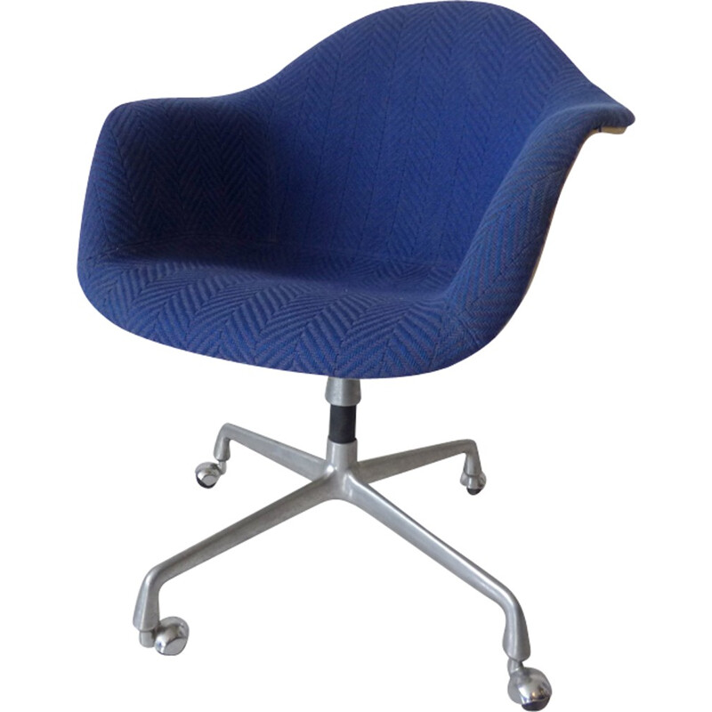 Vintage blue wheelchair by Eames for Herman Miller - 1970s