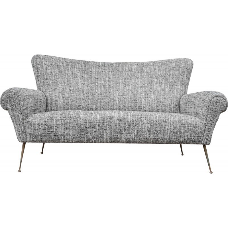 Beautiful Italian sofa in gray fabric 1950s Ideas - Simple 1950s sofa Bed For Your House