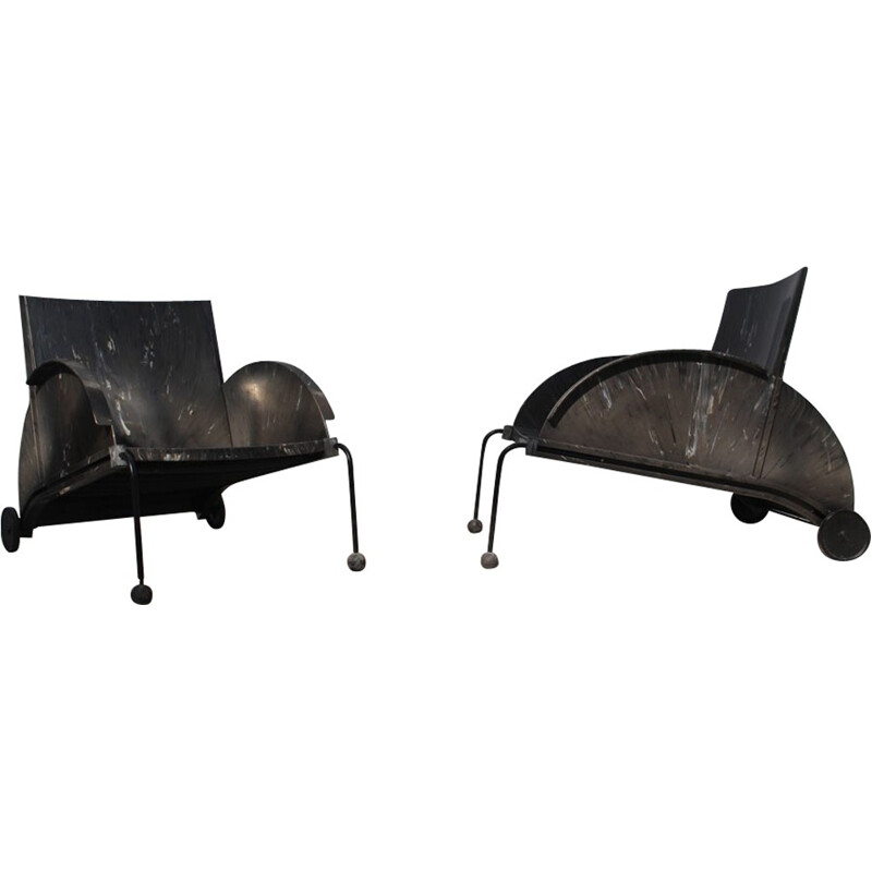Pair of Mid-century Armchairs by Anna Castelli Ferrieri for Kartell - 1980s