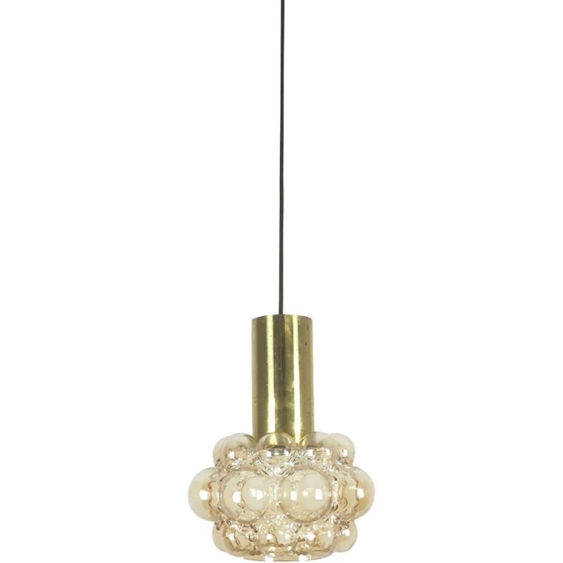 Bubble glass hanging lamp, by Helena Tynell for Glashütte Limburg - 1960s