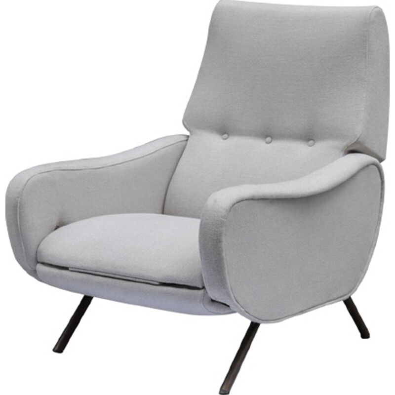Lady armchair with footrest  by Marco Zanuso - 1950s