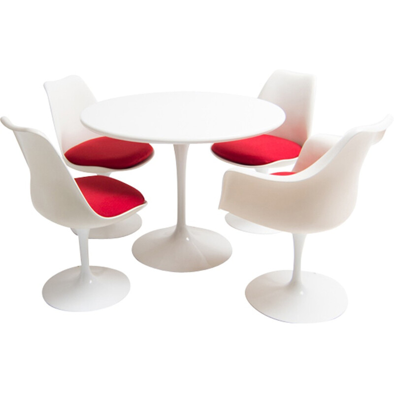 Mid-century dining set marked by Eero Saarinen - 1950s