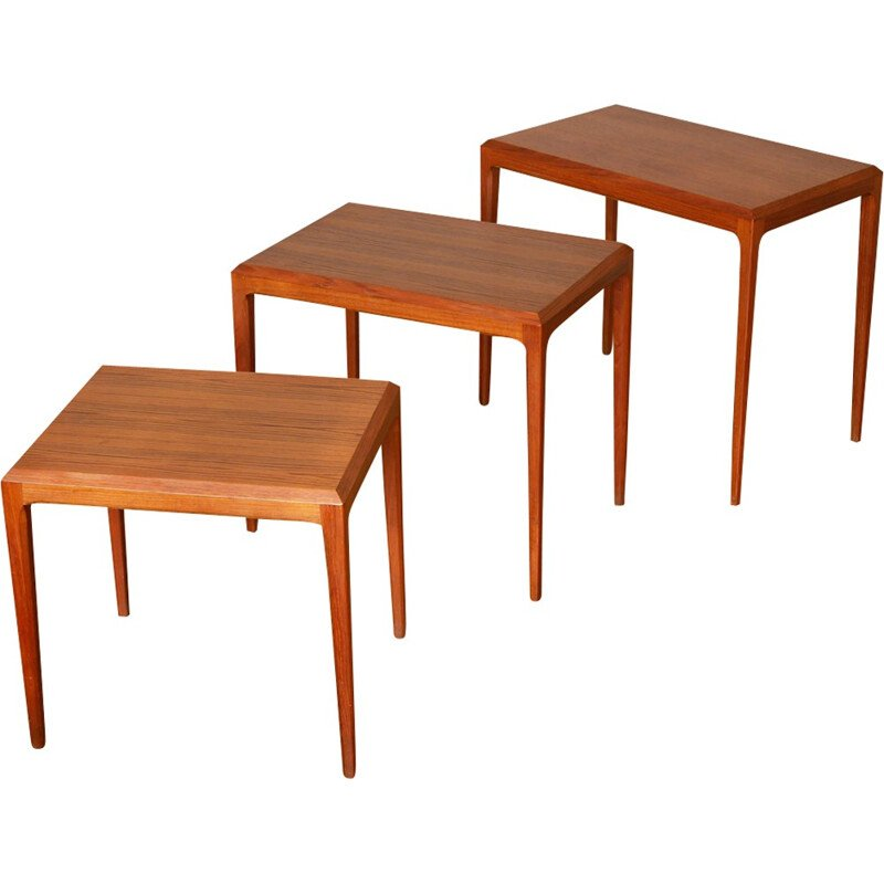 Vintage nesting tables by Johannes Andersen for Silkeborg - 1960s