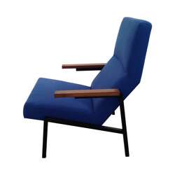 Armchair in metal, wood, foam and fabric by Martin VISSER - 1950s