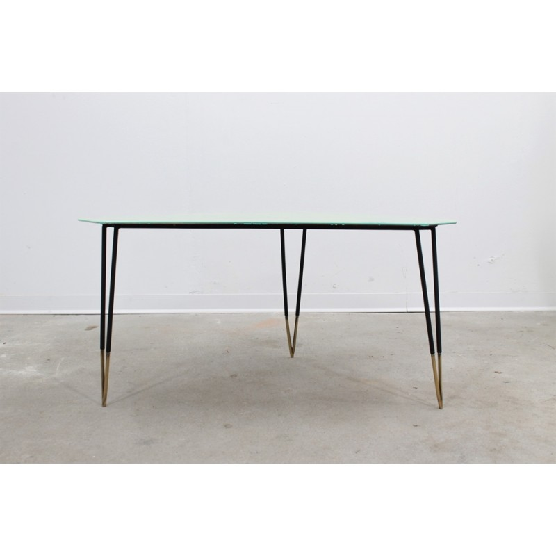 Mid-Century Italian Geometric Glass Coffee Table
