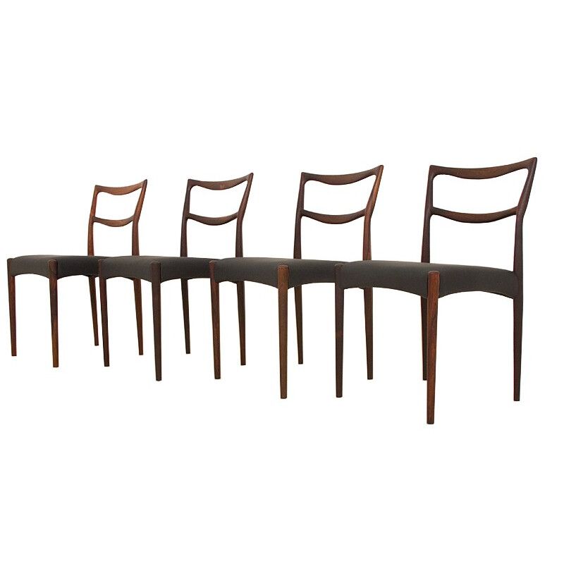 "Vintage set of 8 dining chairs in rosewood model ""223"" by Klein Bramin - 1950s"