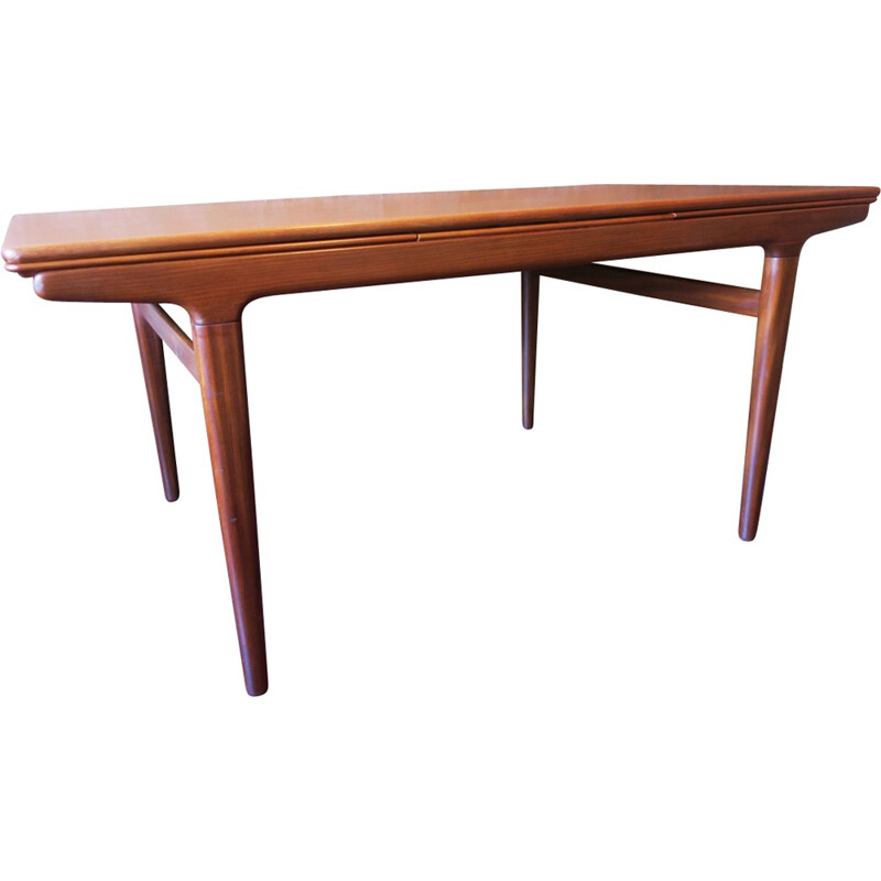 Large Extendable Teak Dining Table by Johannes Andersen for Uldum - 1960s
