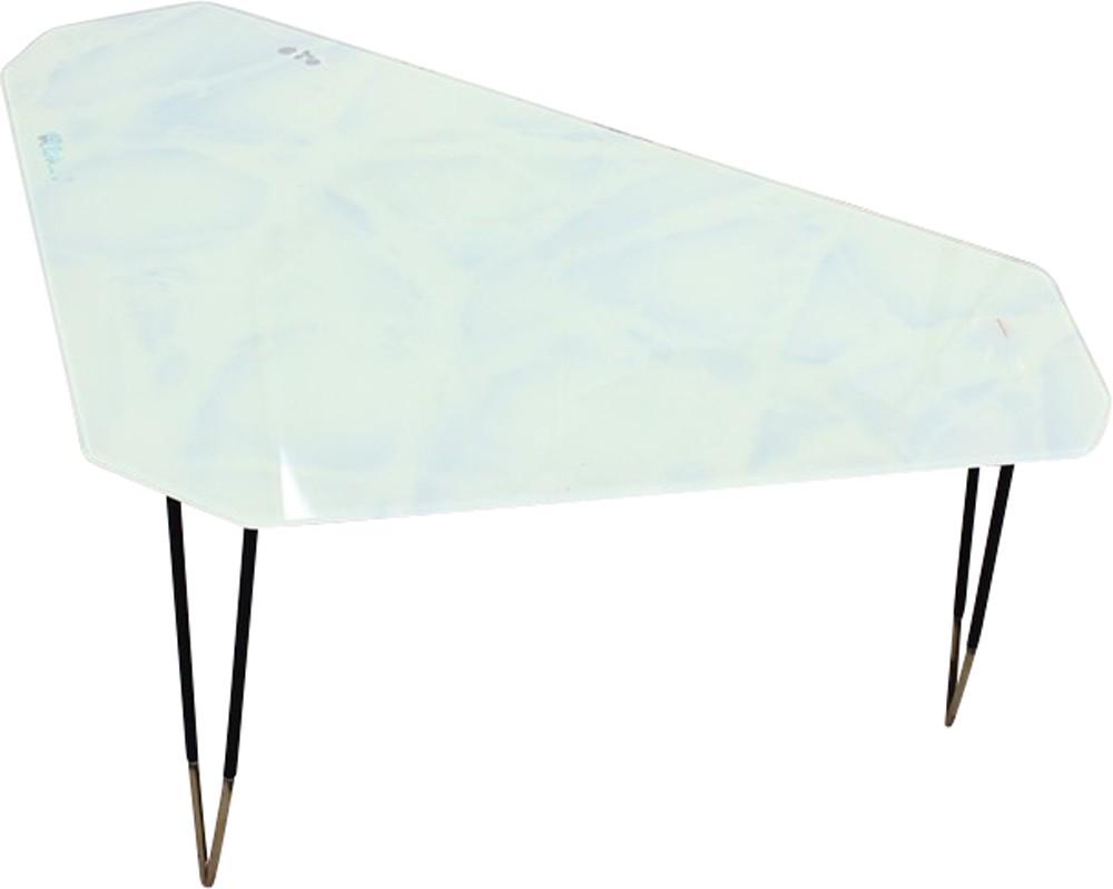 Geometric Glass Coffee Table 1950s Previous Next