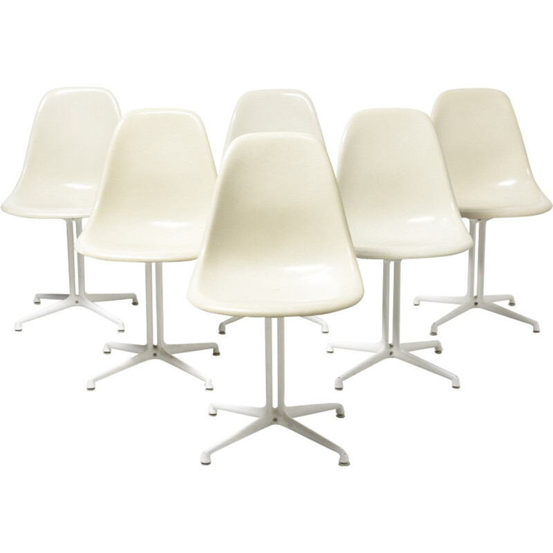Set of 6 DSW dining chairs by Eames for Vitra - 1960s