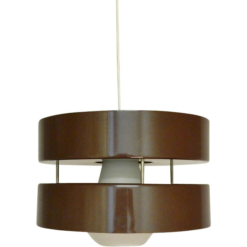 Vintage black pendant light by Hagoort - 1960s