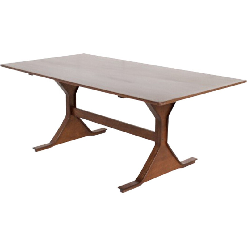 Vintage dining table in rosewood by Gianfranco Frattini for Bernini - 1960s