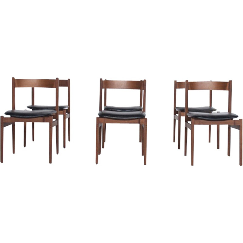Set of 6 chairs model 104 by Gianfranco Frattini - 1960s