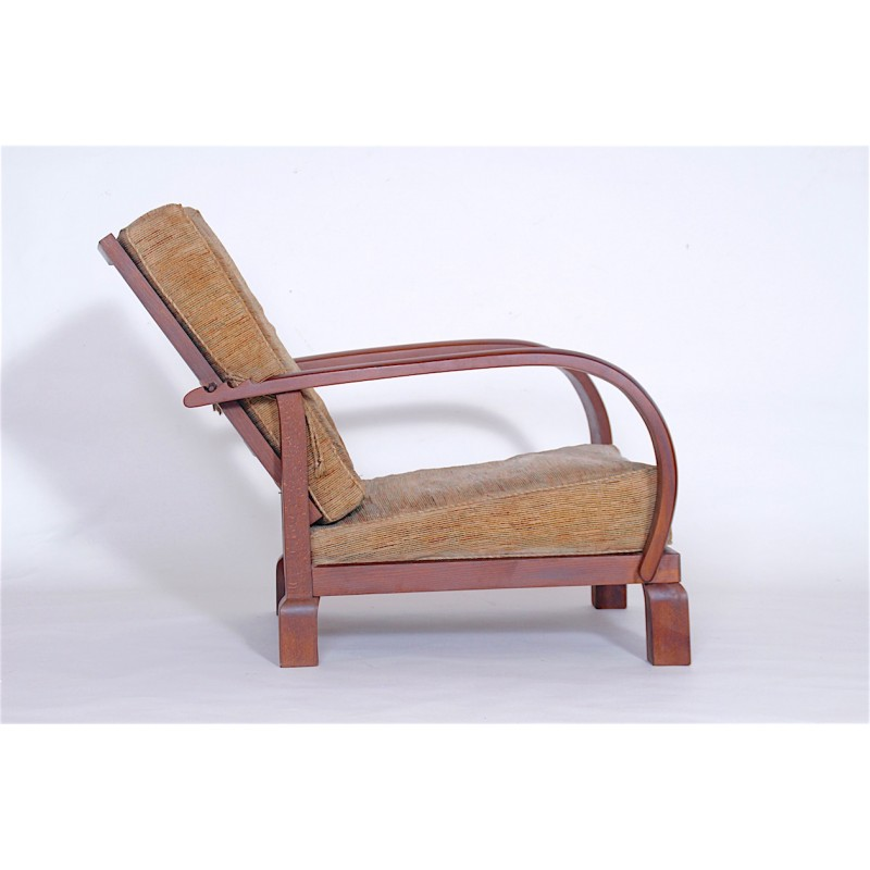 Fabulous Vintage Reclining Armchair In Oak 1920S Machost Co Dining Chair Design Ideas Machostcouk