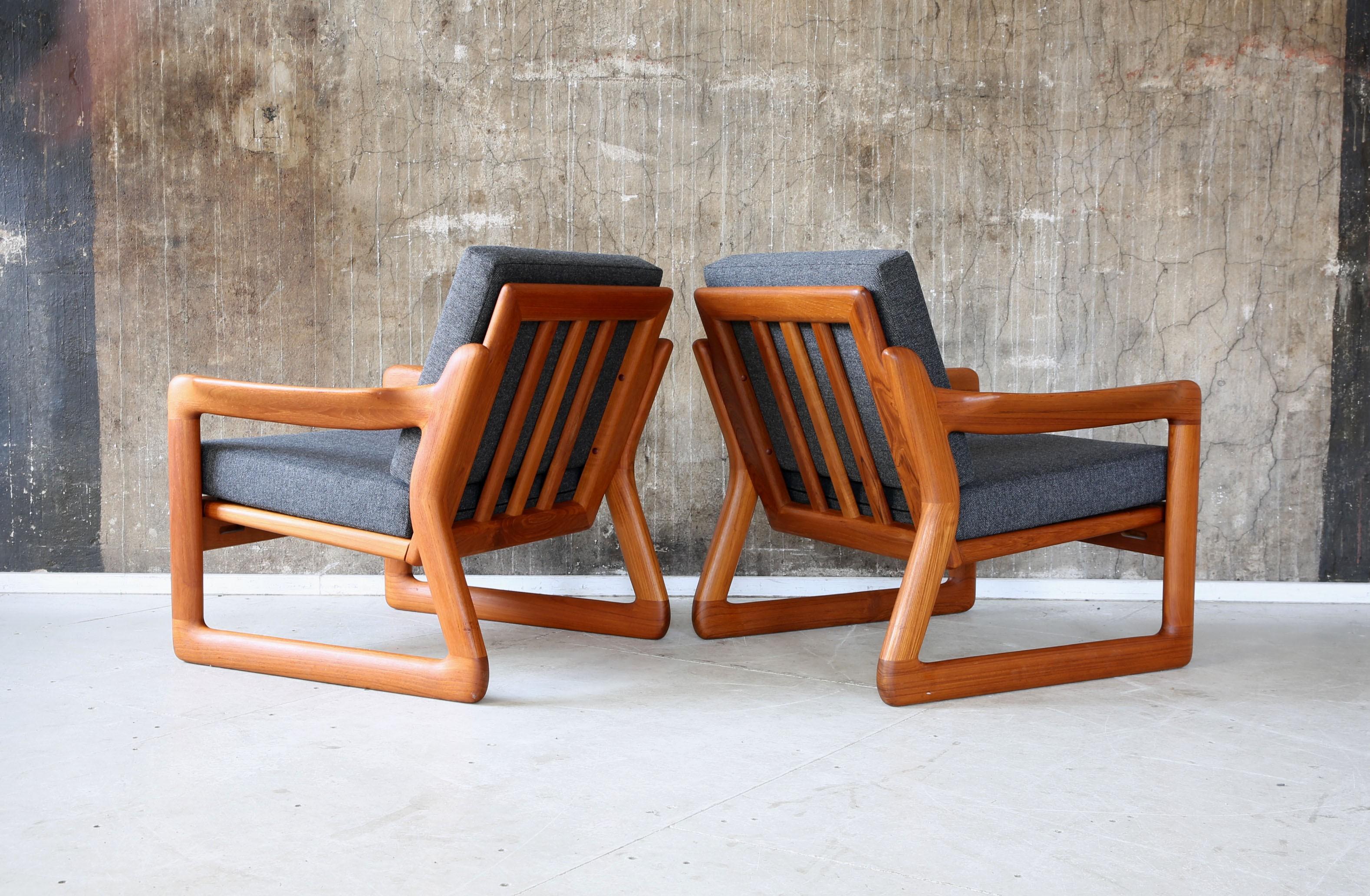 Set Of 2 Danish Vintage Easy Chair In Teak 1960s Design Market