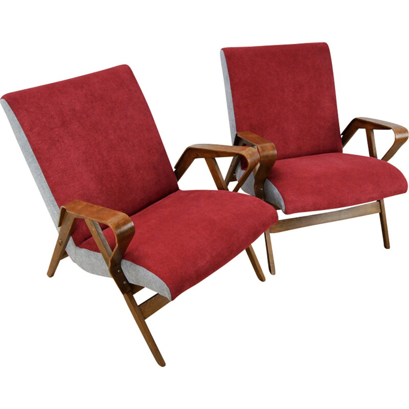 Set of 2 Vintage Armchairs from Tatra Nabytok - 1960s