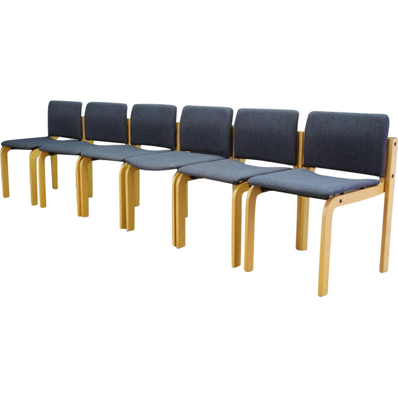 Set of 6 vintage chairs by Fritz Hansen - 1960s