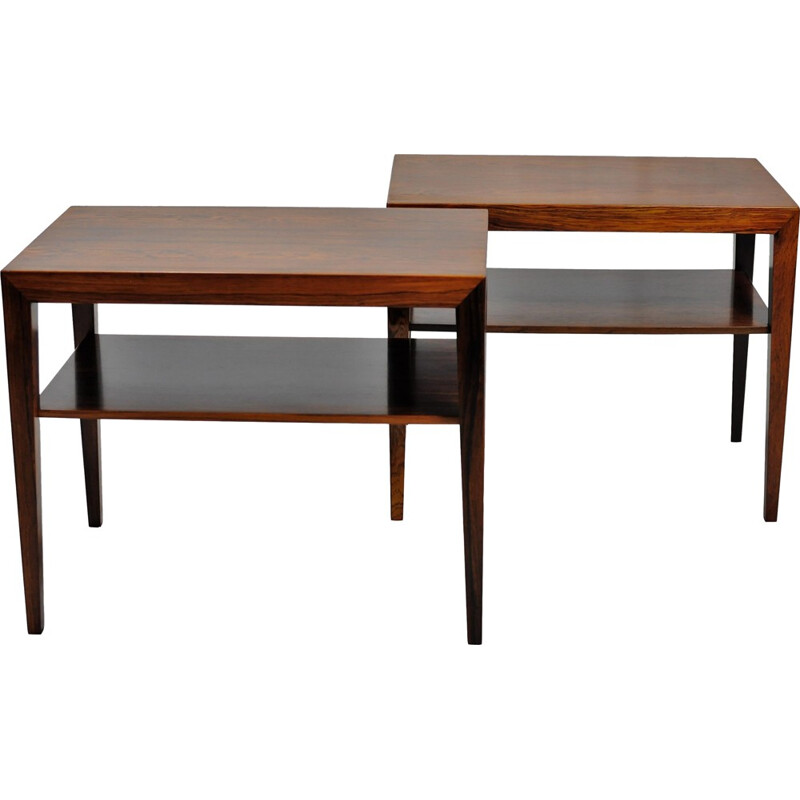 Set of Two Side Tables in Rosewood by Severin Hansen for Haslev Mobelsnedkeri -  1960s