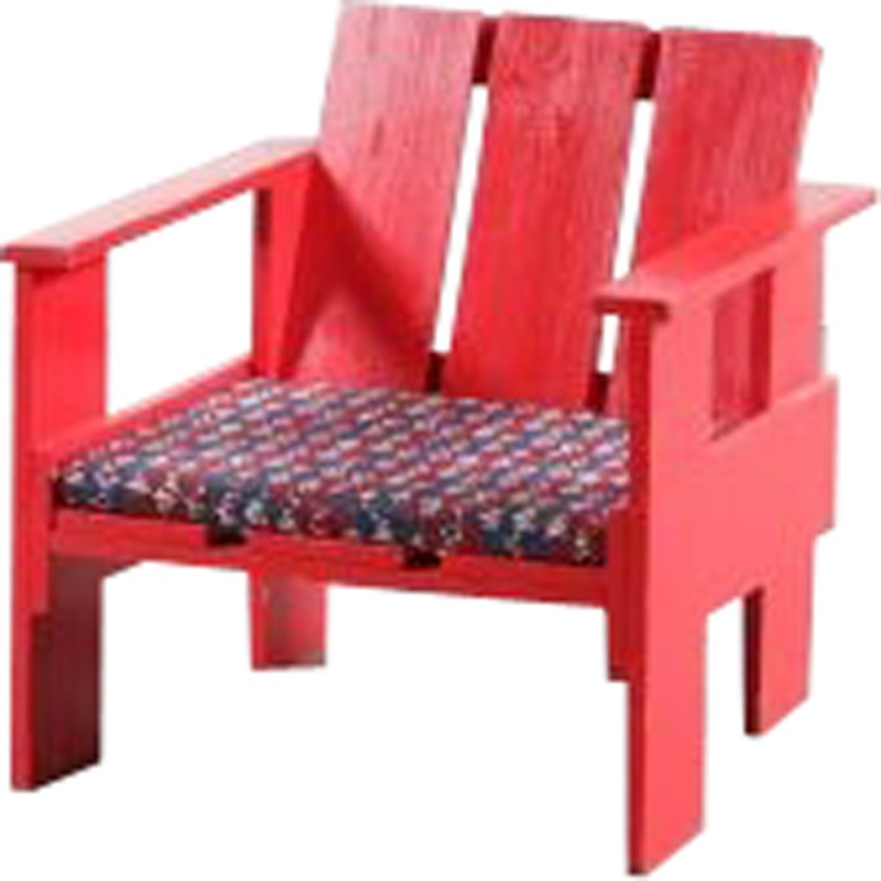 Vintage children crate chair by Gerrit Rietveld - 1970s