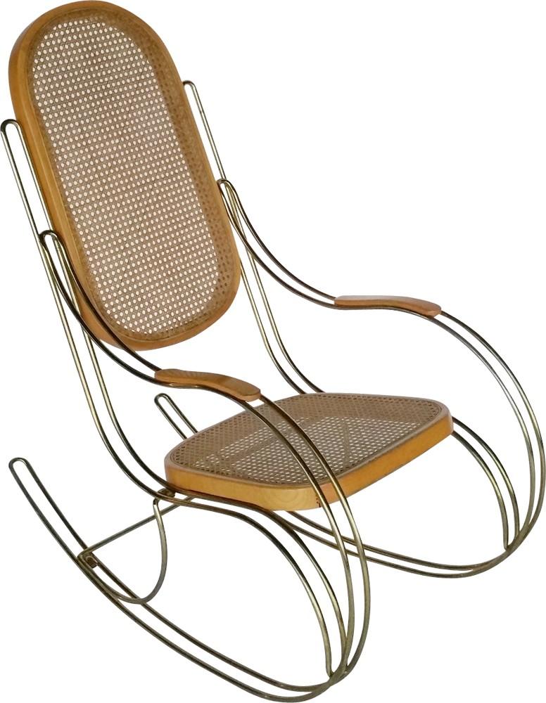 mid century metal cane rocking chair 1970s design market Home Interior Decor previous next