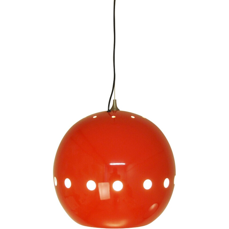 Mid-century Red Hanging Lamp by Goffredo Reggiani for Artimeta - 1970s