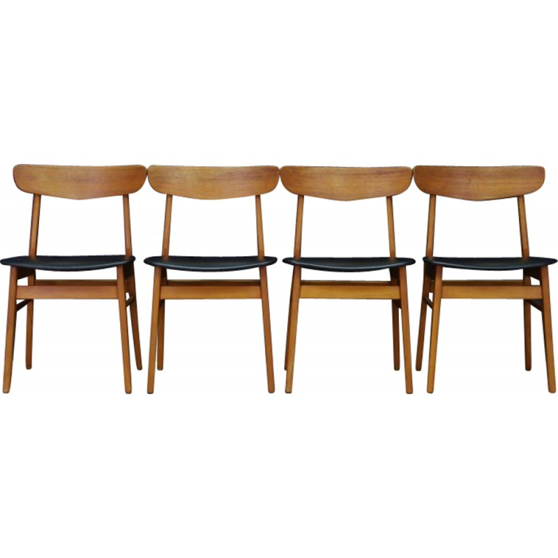 Scandinavian Design Teak Dining Chairs   1960s