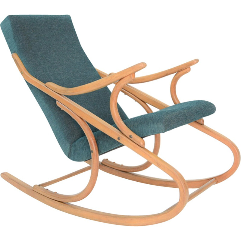 Vintage Green Rocking Chair - 1960s