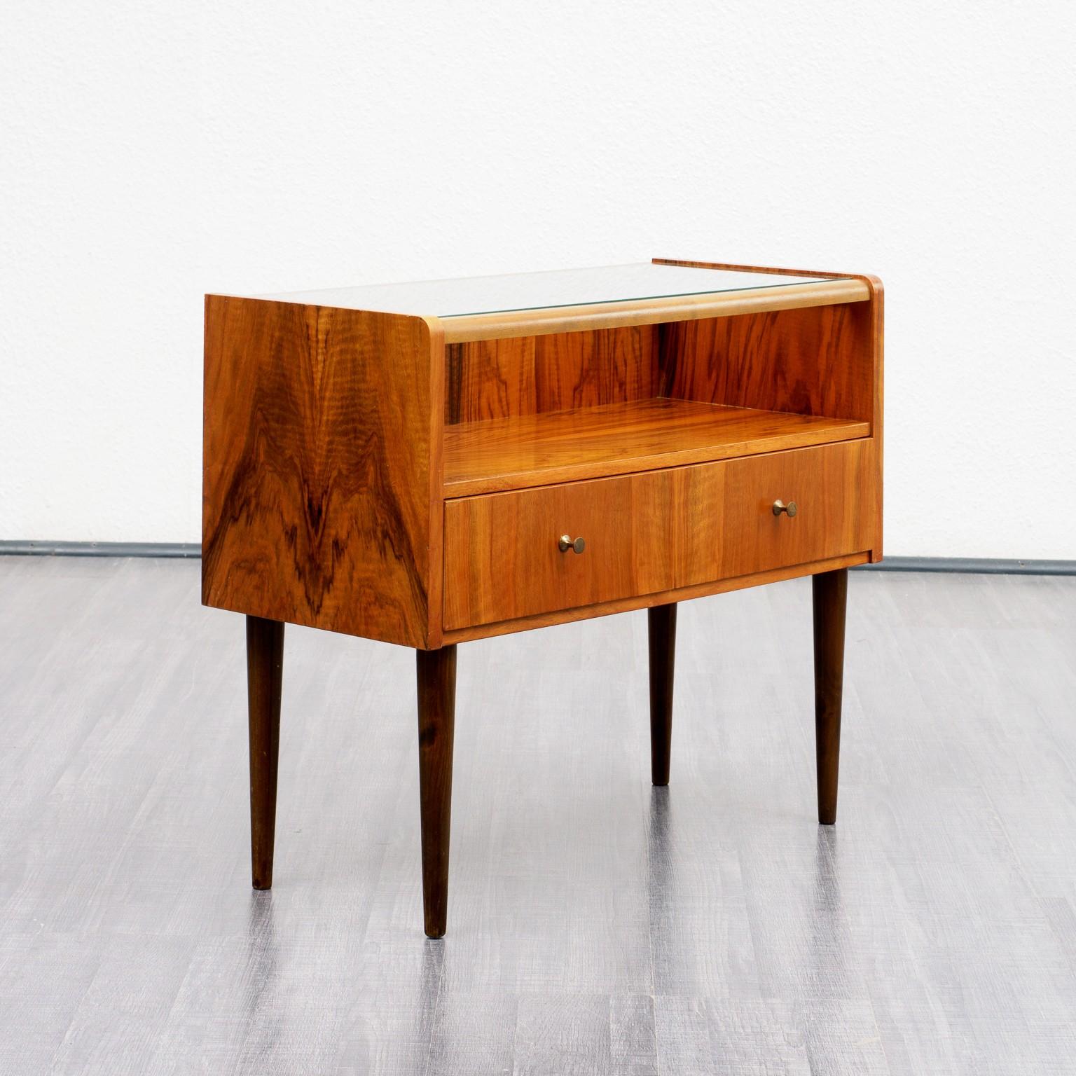 Small Mid Century Dresser In Caucasian Walnut 1960s