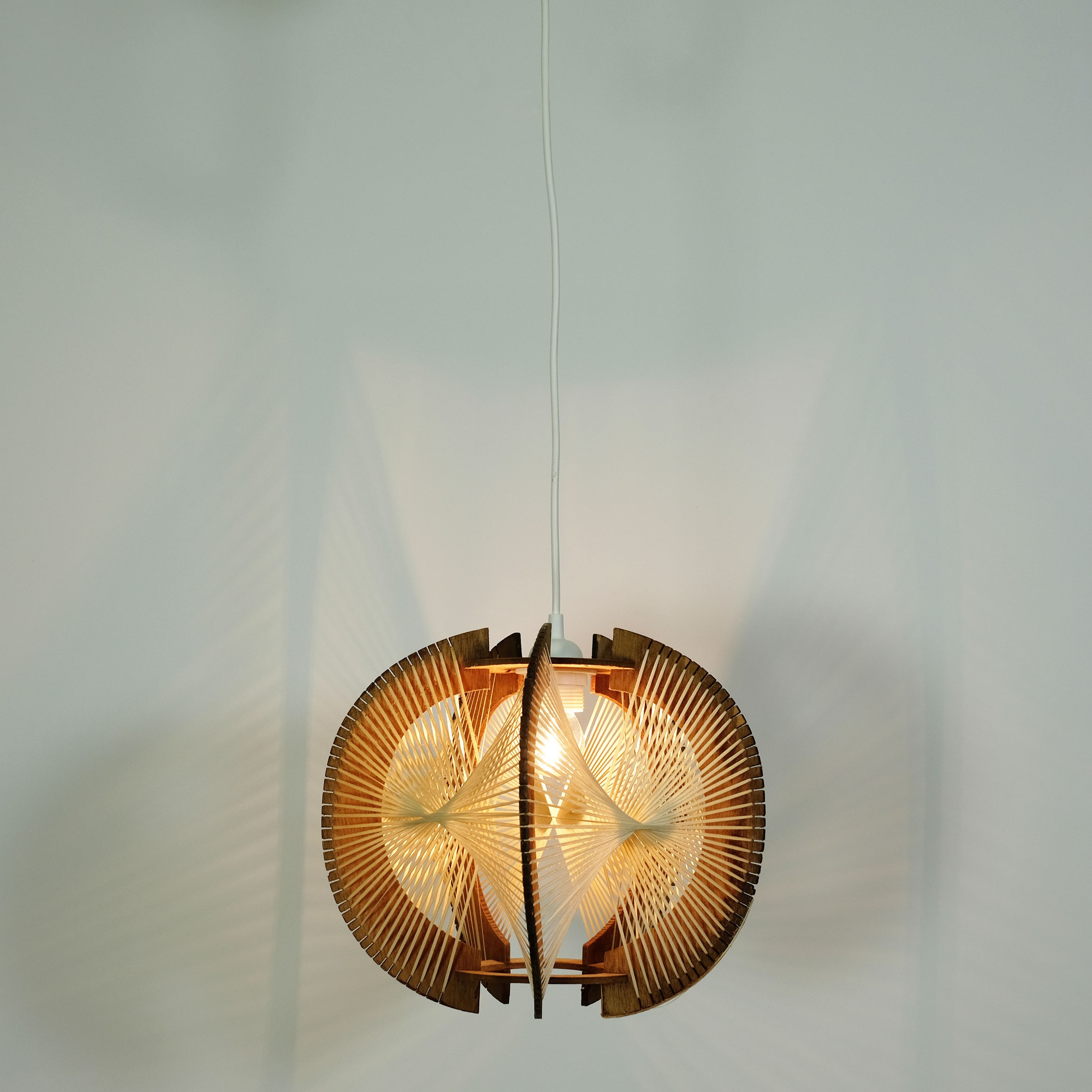 mid century pendant lighting. Mid-century Pendant Lamp In Wire And Wood - 1960s. Previous Next Mid Century Lighting O