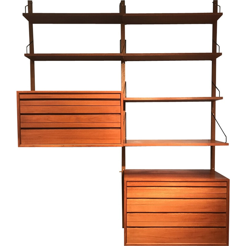 Mid-century teak wall unit by Poul Cadovius - 1960s