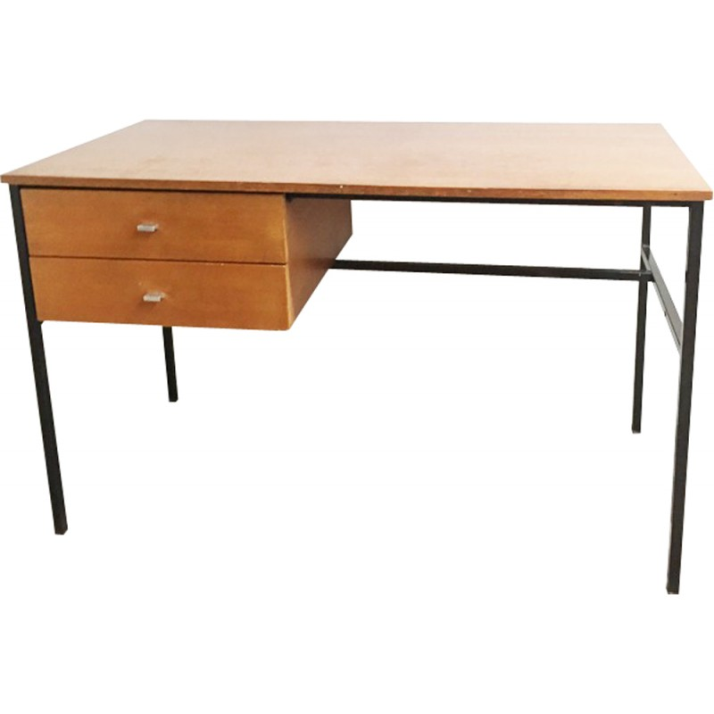 Mid Century Desk By Pierre Guariche For Meurop Edition 1950s