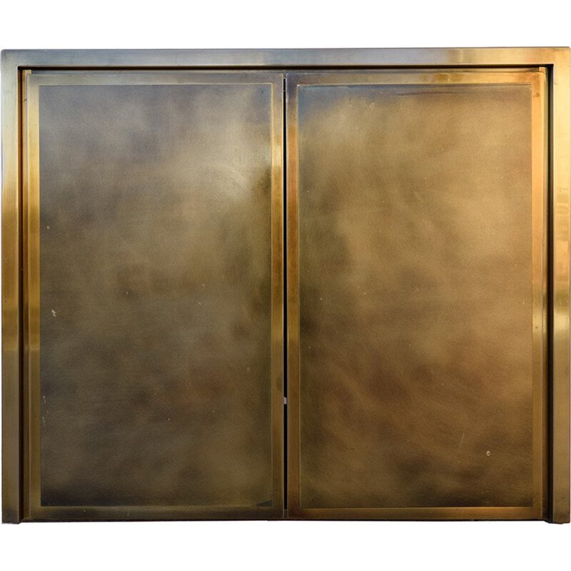 Mid-century Hollywood Regency Brass & Bronze Cabinet from Belgo Chrom - 1980s