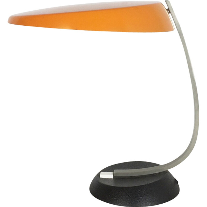 Mid-century Modernist orange ochre Sputnik Table Light for KAISER LEUCHTEN Lights - 1970s