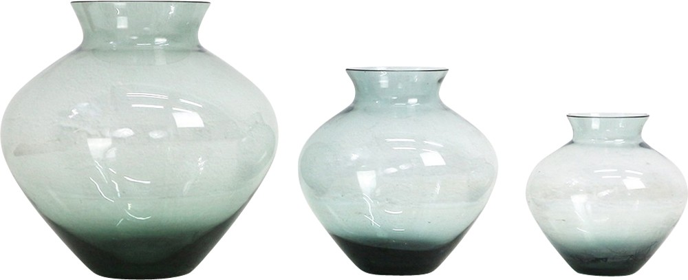 Mixed Lot Of Smoked Glass Vases By Wilhelm Wagenfeld For Wmf 1950s