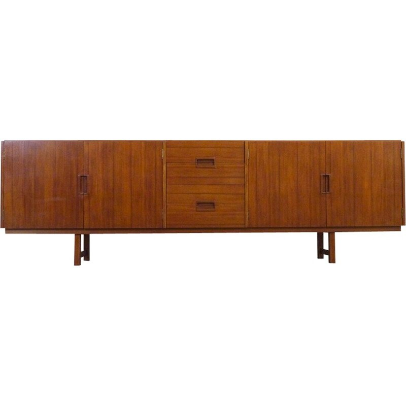 Vintage Scandinavian Teak Sideboard with 4 drawers - 1960s